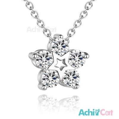 AchiCat 925純銀項鍊 星之花 星星小花 鎖骨鍊