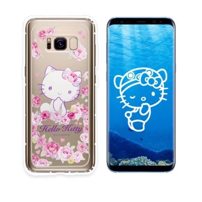 Hello Kitty貓 Samsung S8 空壓手機殼(玫瑰kitty)