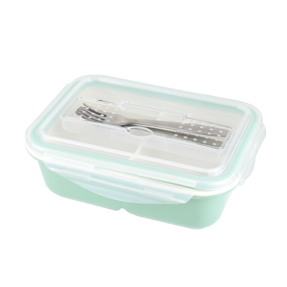 美國Winox 樂瓷陶瓷長形保鮮盒4格766ML-附餐具(3色可選)