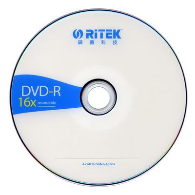 RiTEK錸德 簡約版 DVD-R 16X 燒錄片/光碟片 (600入裸裝)