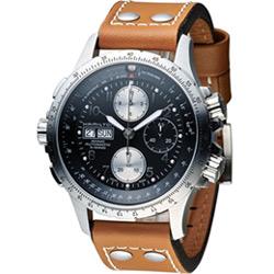 Hamilton 漢米爾頓 ID4 星際重生 卡其御風者時尚計時腕錶-皮/44mm