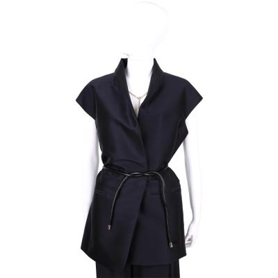 3.1 Phillip Lim 深藍色單領西裝背心(附綁帶)