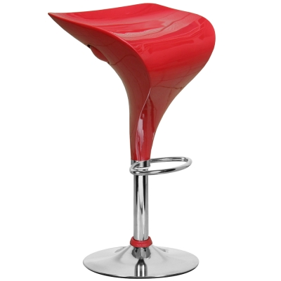 E-Style 高級流線型ABS椅面-吧台椅/洽談椅/會客椅/高腳椅(2入/組)三色