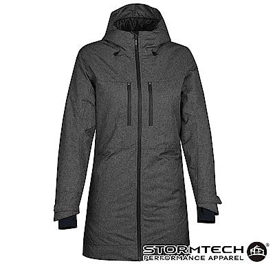 【加拿大STORMTECH】EPJ-1W商務機能防水透氣科技棉蓄熱長版外套-女-灰