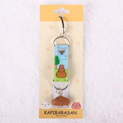 Kapibarasan 水豚君田園農場立體小公仔吊飾(綠色)