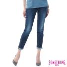 SOMETHING CELEB五袋八分牛仔褲-女-原藍磨