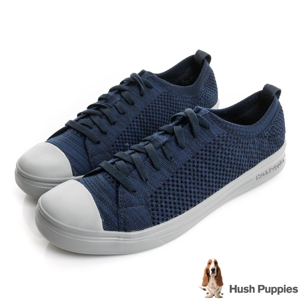 Hush Puppies 玩色針織輕量休閒鞋-深藍
