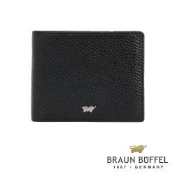 BRAUN BUFFEL - PLAYA佩雅系列5卡透明窗皮夾 - 經典黑