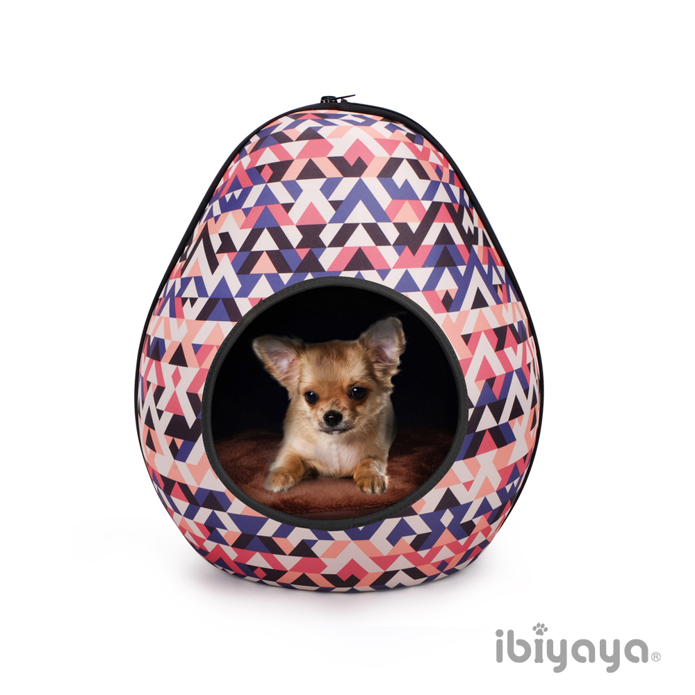 IBIYAYA依比呀呀-FB1412 摩登恐龍蛋寵物窩-幾何粉