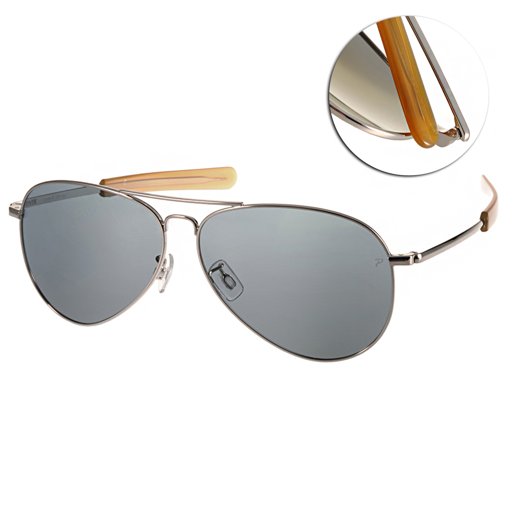 Levi's偏光太陽眼鏡 經典飛官/銀#LS91090 SIL-Y