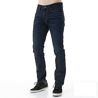 Lee 牛仔褲 709低腰合身小直筒牛仔褲- 男款-中深藍