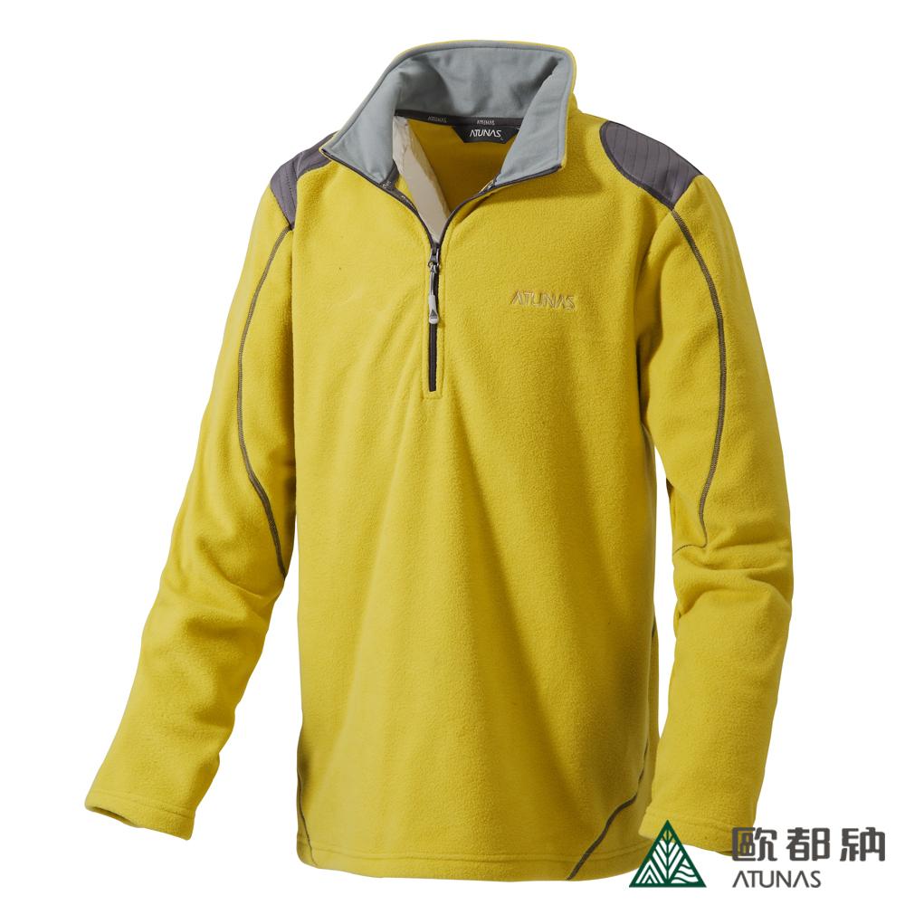 歐都納 A-P1239M 厚Fleece長袖保暖POLO衫