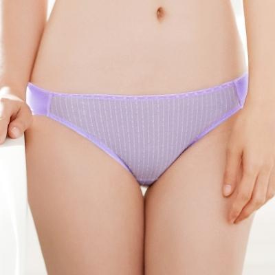 推Audrey-提花舒波 低腰三角褲(水漾紫)