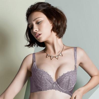 摩奇X 大V背系列  D-E 罩杯內衣(紫芋)