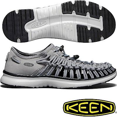 KEEN 1018719鐵灰/深灰 Uneek O2 男戶外護趾編織涼鞋