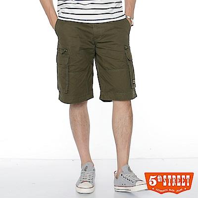5th STREET 多袋休閒短褲-男-苔綠