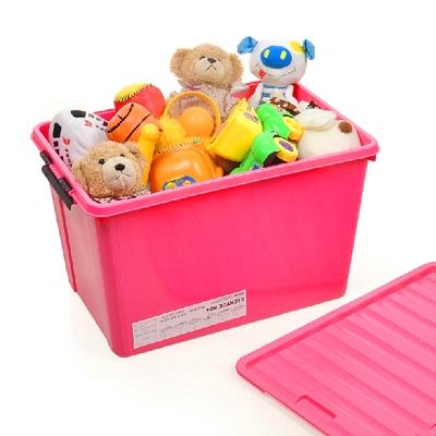 美樂麗 86L 超大號三色 物品收納卡扣整理箱(1入)