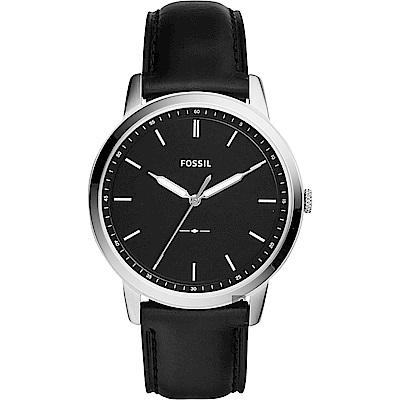 FOSSIL Minimalist 薄型簡約手錶(FS 5398 )-黑/ 44 mm