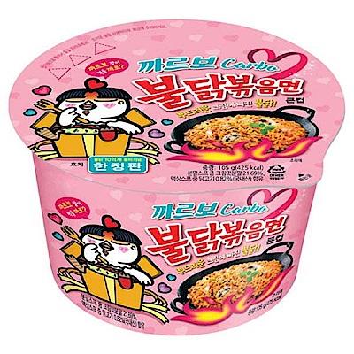 韓國粉紅辣雞奶油培根乾炒碗麵(105g)