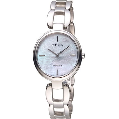 CITIZEN L系列 迷人風采光動能時尚錶(EM0420-89D)-銀色/28mm