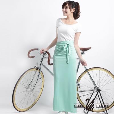 【遊遍天下】MIT台灣製涼感抗UV防曬吸排多功能一片裙117(加大尺碼)湖水綠