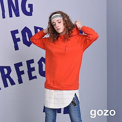gozo 運動連帽造型拼接洋裝(三色)