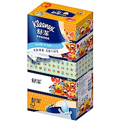 舒潔 迪士尼溫和柔感盒裝面紙140抽(5盒/串)
