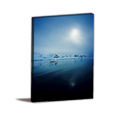 24mama掛畫-單聯式直幅 掛畫無框畫 冰天雪地 30x40cm