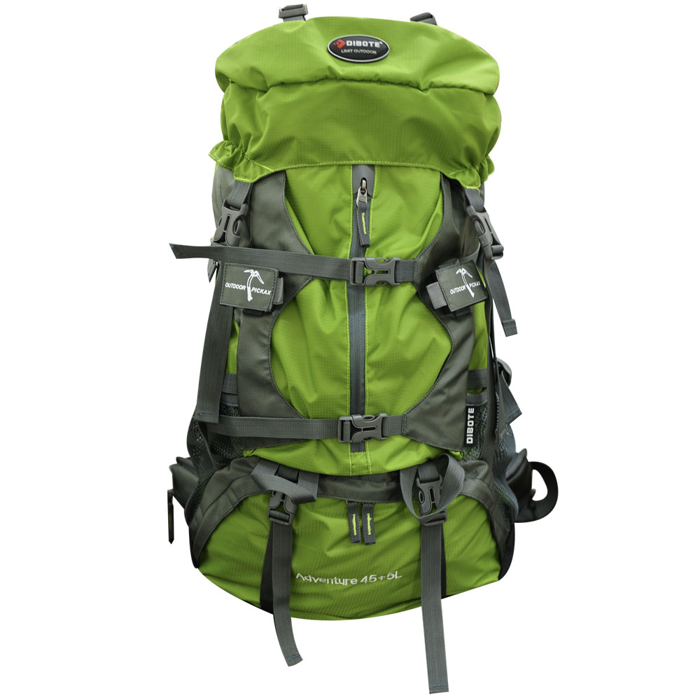 迪伯特 人體功學45+5L登山背包(綠)