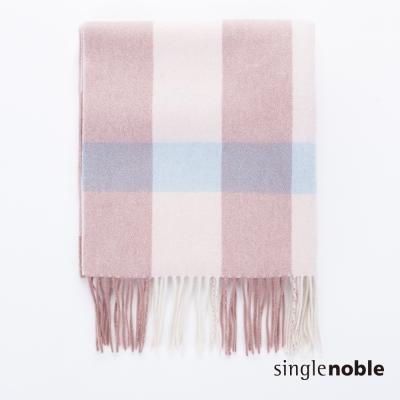 獨身貴族 文藝復興時尚格紋抽鬚垂墜感設計圍巾(2色)