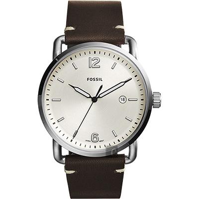 FOSSIL Commuter 尊爵時尚腕錶(FS5275)-銀x咖啡/42mm