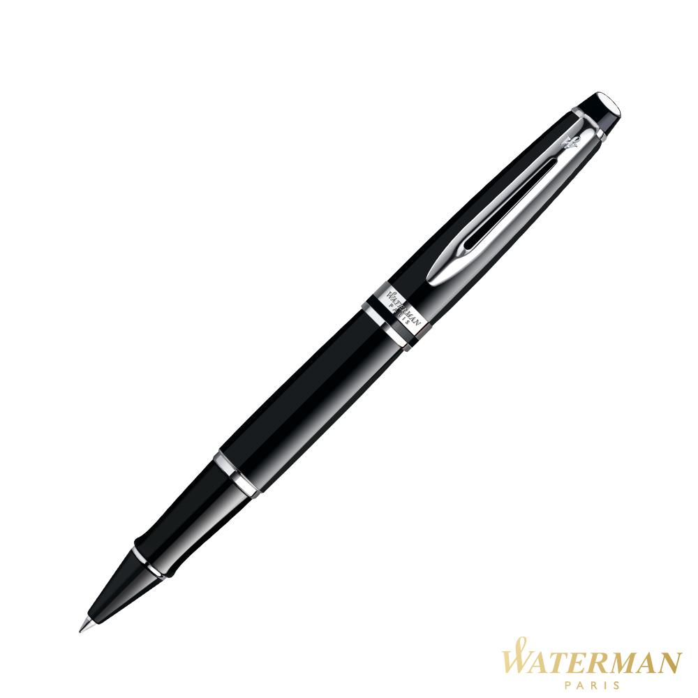 WATERMAN 權威系列 黑桿白夾 鋼珠筆