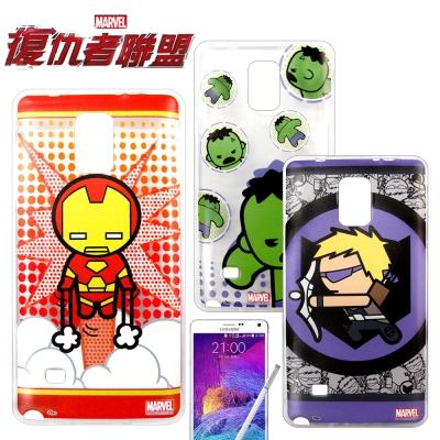 復仇者聯盟 三星 SAMSUNG Note4 Q版彩繪手機軟殼(英雄款)