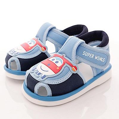 SUPER WINGS 護趾嗶嗶涼鞋款 EI3205 藍 (寶寶段)