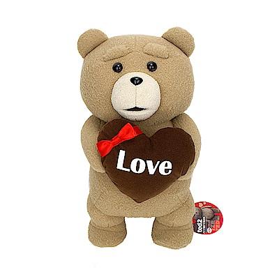 FANS 日版 熊麻吉2 景品 TED 泰迪 巧克力愛心 絨毛娃娃 B款