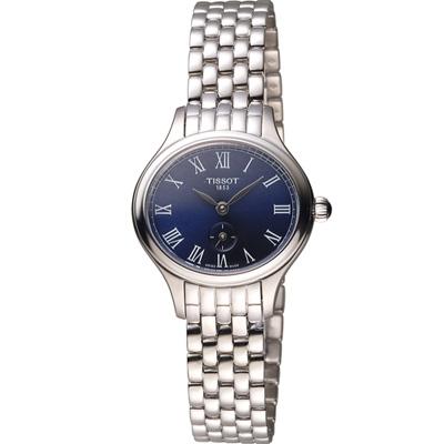 TISSOT天梭 Bella Ora 羅馬時光時尚腕錶-藍/28x24mm