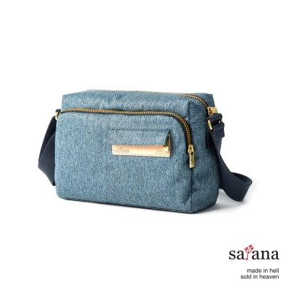 satana-Denim-輕便斜背包-丹寧藍