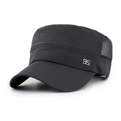 活力揚邑 防曬涼感速乾吸濕排汗潮流軍帽平頂帽-灰色