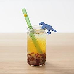 美國strawesome手工玻璃吸管/寬口直式-亮綠(豔陽黃)