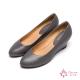 達芙妮DAPHNE-國民美鞋原色真皮楔型低跟鞋-氣