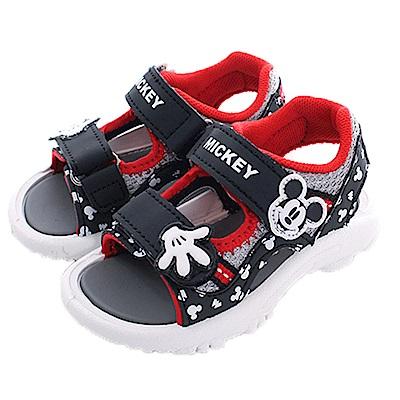 迪士尼米奇運動涼鞋 黑紅 sk0441 魔法Baby