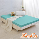 LooCa 法國防蹣防蚊釋壓記憶床墊11cm床墊-加大6尺