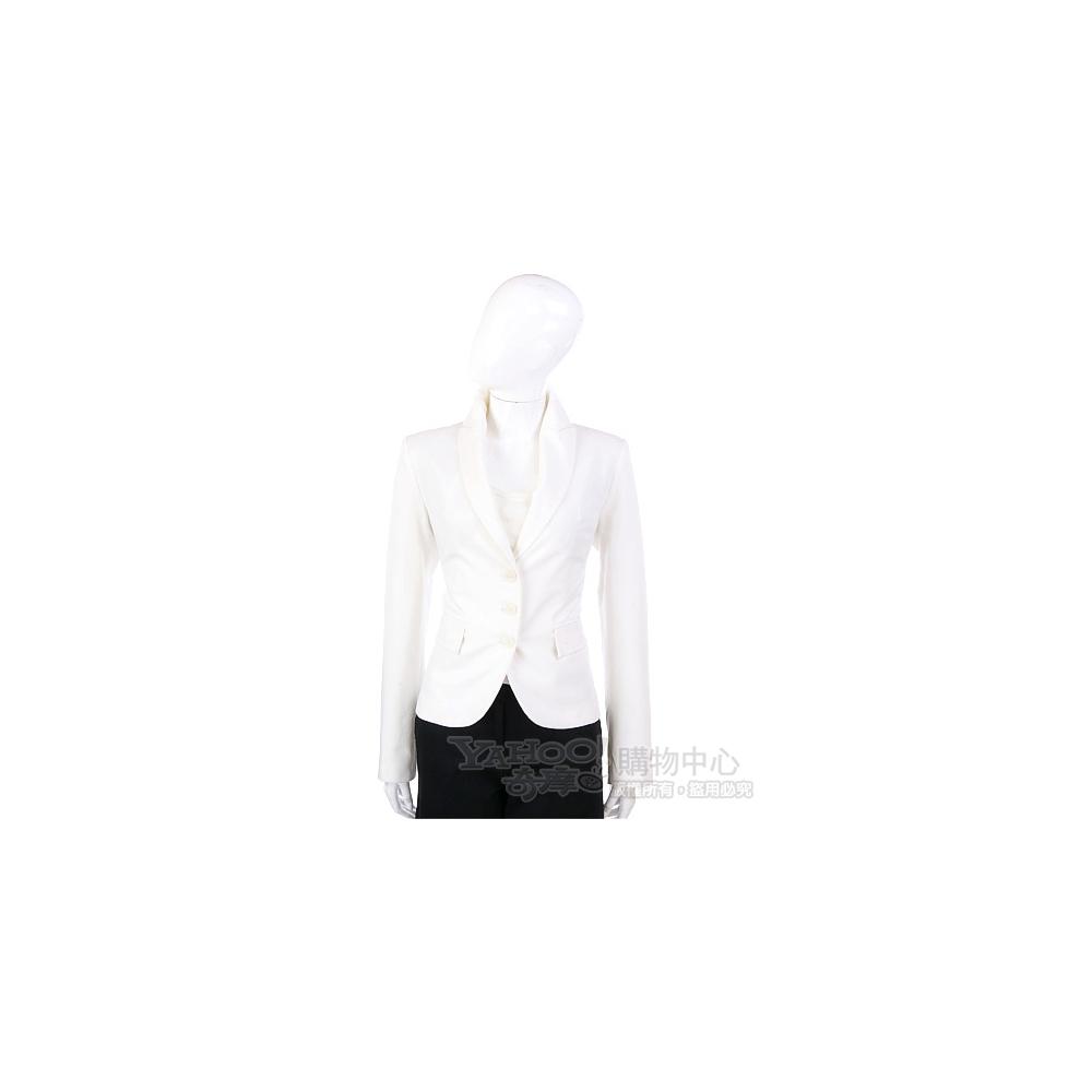 PAOLA FRANI 米白色三釦式西裝外套