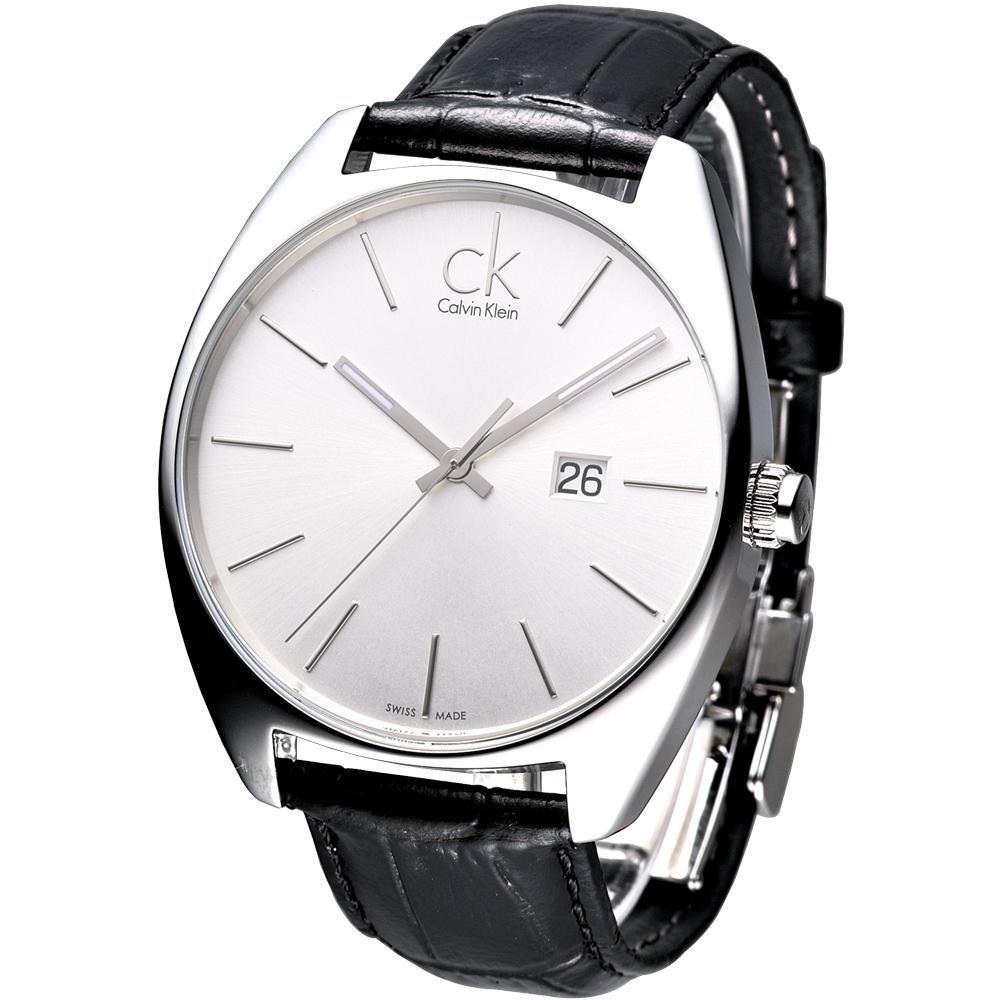 cK  Exchange 時尚名仕大錶徑腕錶-白/44mm