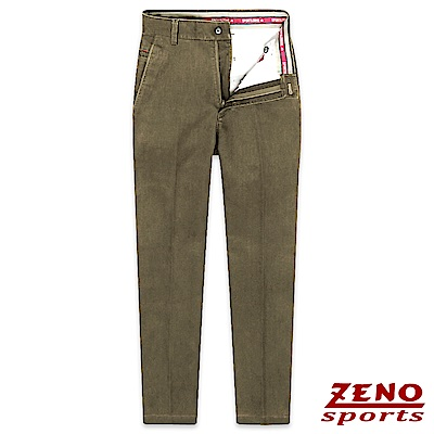 ZENO 經典彈性棉柔無摺休閒長褲‧咖啡色30-42