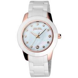 Folli Follie 海洋精靈陶瓷腕錶-白x玫瑰金/38mm