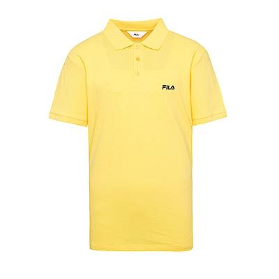 FILA 男款短袖POLO衫-黃 1POS-1510-YE