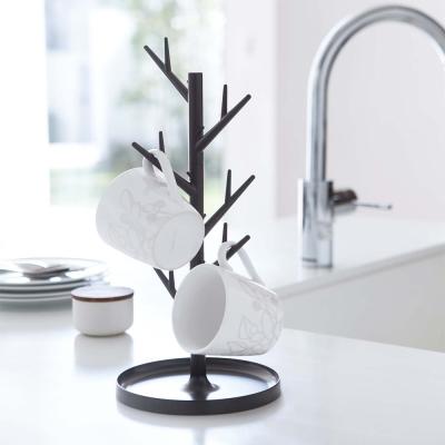 【YAMAZAKI】樹枝杯架-棕★樹枝收納架/首飾收納架/飾品收納架/廚房杯架