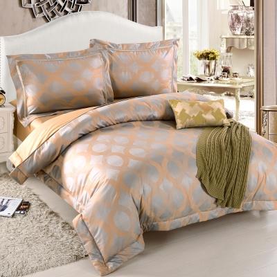 HOYACASA曼蒂 加大四件式絲棉緹花兩用被床包組