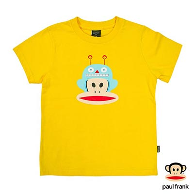 Paul Frank-機器人Julius印花短袖T恤-黃(童)